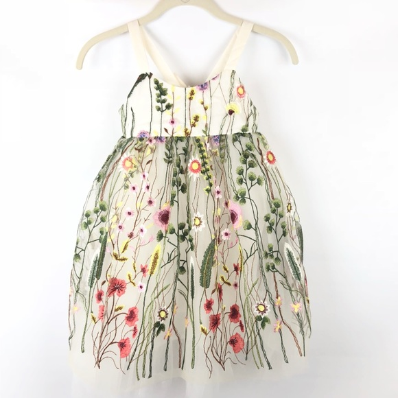 28719c510814 Halabaloo Dresses | Nwt Girls Floral Embroidered Empire Waist Dress ...